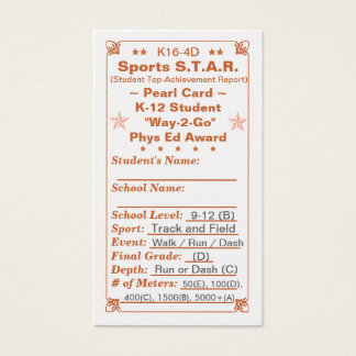 K16-4D Sports S.T.A.R. ~Pearl Card~ HS 100ct Business Card