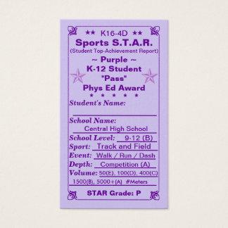K16-4D Sports S.T.A.R. ~Purple Card~ HS 100ct Business Card