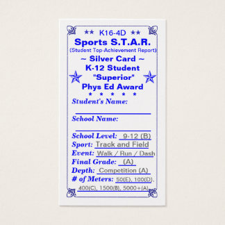 K16-4D Sports S.T.A.R. ~Silver Card~ HS 100ct Business Card