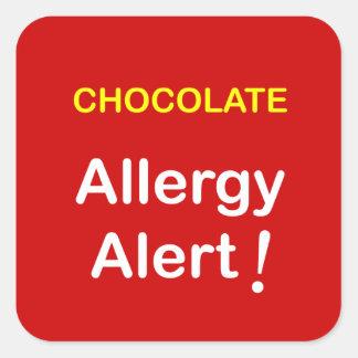 k1 - Allergy Alert - CHOCOLATE. Stickers