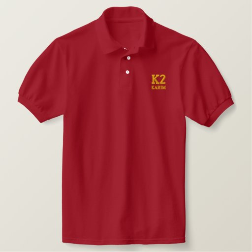 K2, KARIM EMBROIDERED POLO SHIRT