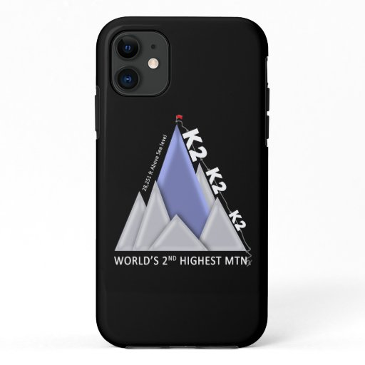 K2 MOUNTAIN IPHONE 11 CASE, BLACK iPhone 11 CASE