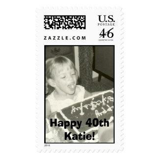 k3 Happy 40th Katie Stamps