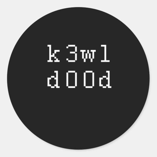 K3WLDOOD PEGATINA REDONDA