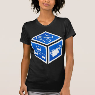 K5K Blue Cube Baby Doll T-shirt