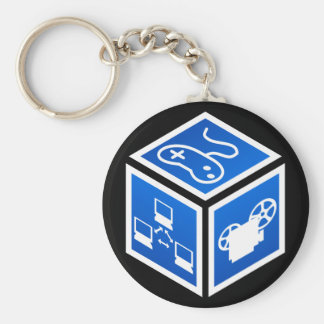 K5K Blue Cube Keychain