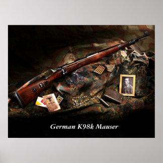 K98k alemán Mauser Póster