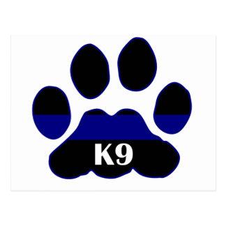 K9 Blue Line Postales