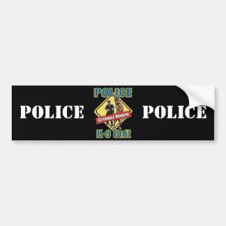 K9 Criminals Beware Car Bumper Sticker