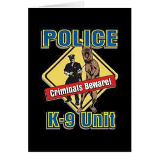 K9 Criminals Beware Card