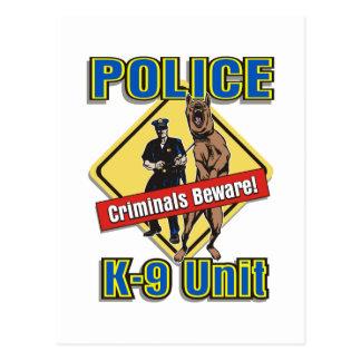 K9 Criminals Beware Postcard