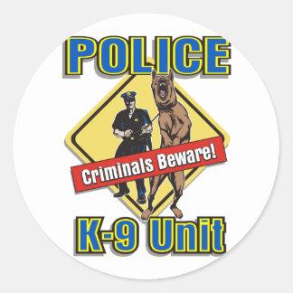 K9 Criminals Beware Stickers