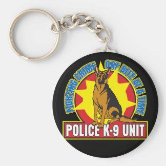 K9 German Shepherd Bite Basic Round Button Keychain