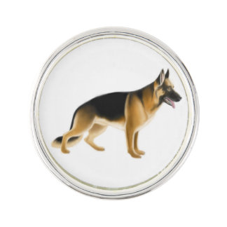 K9 German Shepherd Police Dog Lapel Pin