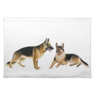 K9 German Shepherd Police Dogs Placemat