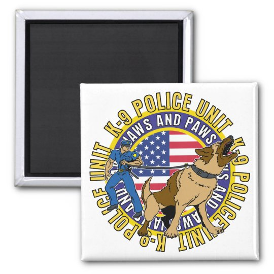 K9 Jaws and Paws Magnet