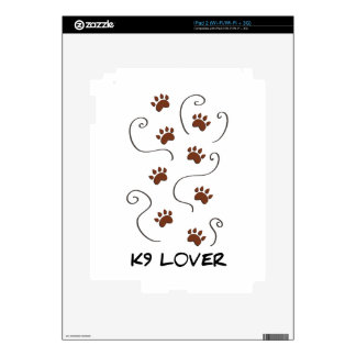 K9 Lover Decals For iPad 2