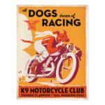 K9 Motorcycle Club Postcard