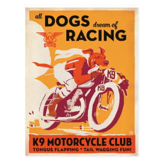 K9 Motorcycle Club Postcard
