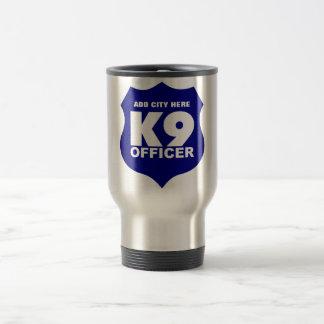 K9 Officer Travel Mug in Blue, ADD CITY HERE