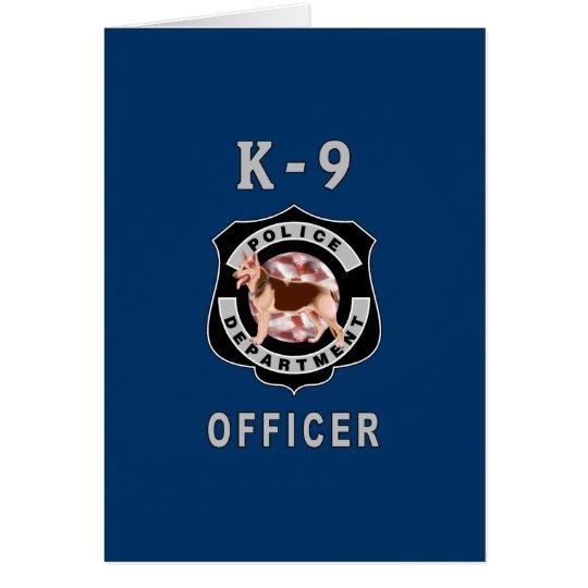 K9 Police Card