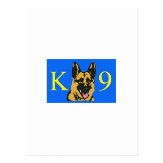 K9 POLICE DOG POSTCARD