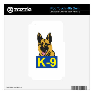K9 POLICE DOG iPod TOUCH 4G SKINS