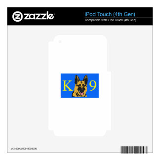 K9 POLICE DOG iPod TOUCH 4G DECAL