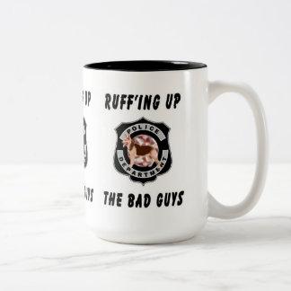 K9 Police Dog Two-Tone Coffee Mug