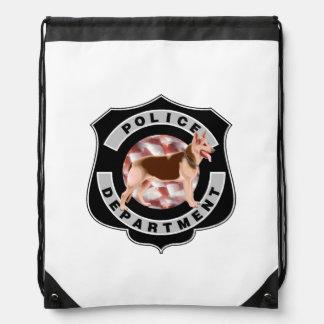 K9 Police Drawstring Bag