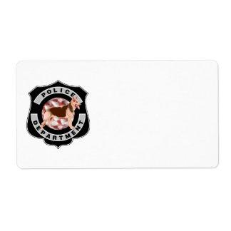 K9 Police Shipping Label