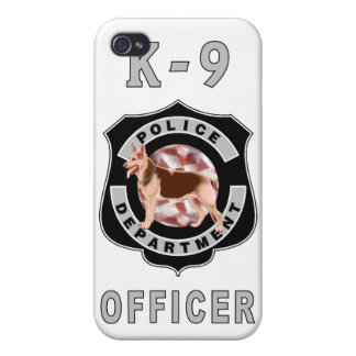 K9 Police Officers Badge Case For iPhone 4