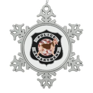 K-9 Badge Ornaments For Holidays