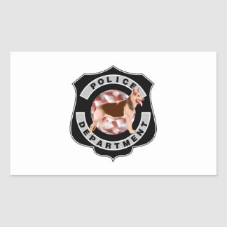 K9 Police Rectangular Sticker