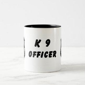 K9 Police Two-Tone Coffee Mug