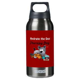 K9 Quench Hydrate Your Therapy Dog Insulated Water Bottle