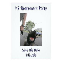 K9 Retirement Invitation