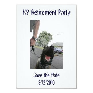 K9 Retirement Invitation