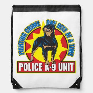 K9 Rottweiler Bite Drawstring Bag