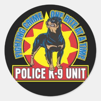 K9 Rottweiler Bite Classic Round Sticker