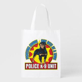 K9 Rottweiler Bite Reusable Grocery Bag