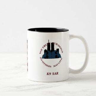 K9 SAR Remember 9-11Mug Black Two-Tone Coffee Mug