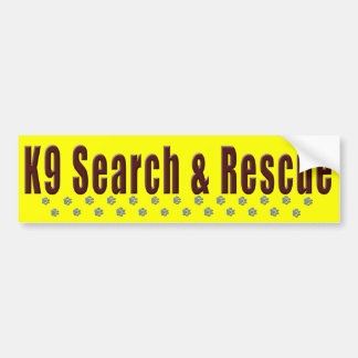 K9 Search & Rescue Car Bumper Sticker