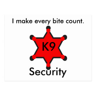 K9 security postcard