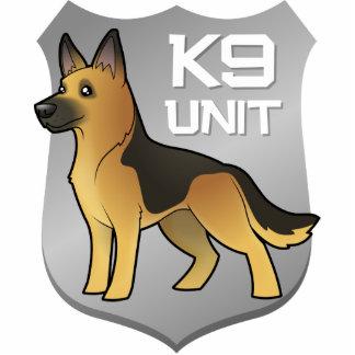 K9 Unit Cartoon German Shepherd Cutout