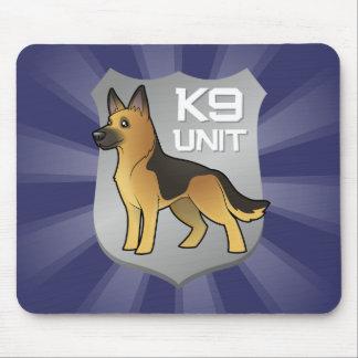 K9 Unit Cartoon German Shepherd Mouse Pad