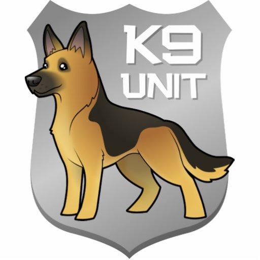 K9 Unit Cartoon German Shepherd Photo Cutout Zazzle
