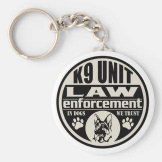 K9 Unit In Dogs We Trust Basic Round Button Keychain