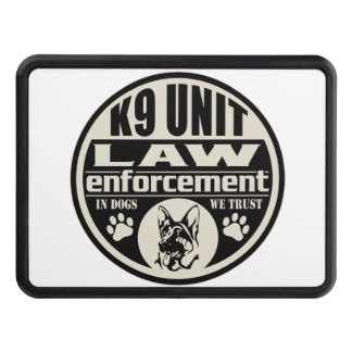 K9 Unit In Dogs We Trust (Black) Hitch Cover