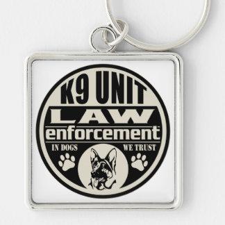 K9 Unit In Dogs We Trust (Black) Keychain